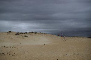 Sobre una duna en Galicia. Fotografía de Antonio Lopera