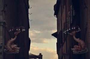 Farolas de Siena. Fotografía de Antonio Lopera